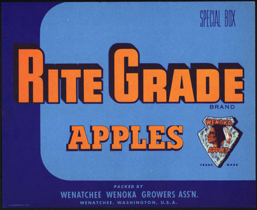#ZLC284 - Rite Grade Special Box Apples Crate Label - Indian Logo