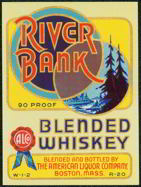 #ZLW068 - Large Size RIver Bank Whiskey Label