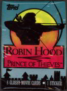 #ZZA054 - Pack of Topps 1991 Robin Hood Prince of Thieves Cards