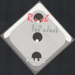 ##MUSICBP0704 - Scarce Rush OTTO Cloth Backstage Pass from the 1991 Roll the Bones Tour