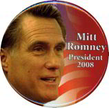 #PL136 - Mitt Romney President 2008 Pinback