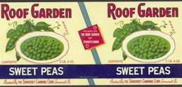 #ZLCA097 - Roof Garden Sweet Peas Can Label