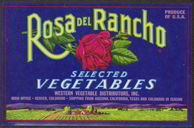 #ZLCA*052 - Rosa Del Rancho Selected Vegetables Crate Label