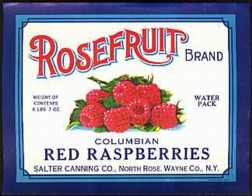 #ZLC023 - Rosefruit Red Raspberries Label
