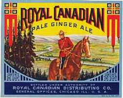 #ZLS021 - Royal Canadian Pale Dry Ginger Ale Label