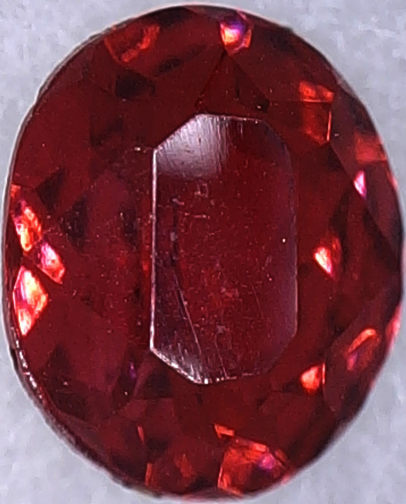 #BEADS0538 - 12mm Oval Ruby Glass Rhinestone - As Low as 18¢ each