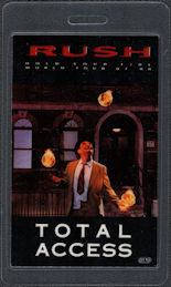 ##MUSICBP0408  - Rush OTTO Laminated Total Access Backstage Pass from the 1987/88 Hold Your Fire Tour - Juggler