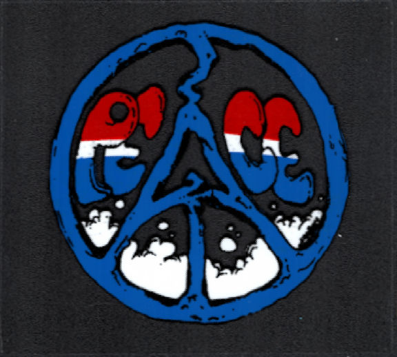 ##MUSICBP2023 - Grateful Dead Car Window Tour Sticker/Decal - Patriotic Red, White, and Blue Peace Sign