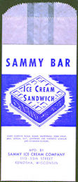 #PC116 - Group of 12 Sammy Ice Cream Sandwich Wrappers