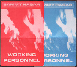 ##MUSICBP0759 - Pair of Sammy Hagar OTTO Cloth Backstage Working Personnel Passes from the 1997 Marching to Mars Tour