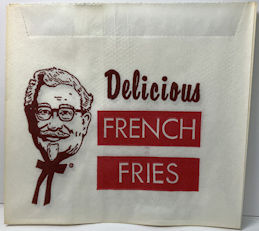 #CH138  - Group of 12 Colonel Sanders Kentucky Fried Chicken French Fry Bags