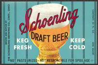 #ZLBE045 - Schoenling Draft Beer Label - Blue