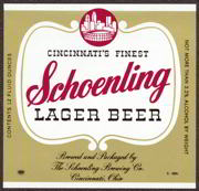#ZLBE035 - Square Schoenling Lager Beer Label - City Skyline