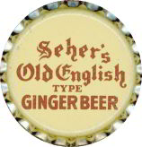 #BC129 - Group of 10 Seher's Old English Ginger Beer Soda Caps