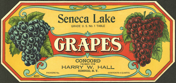 #ZLSG107 - Seneca Lake Grape Crate Label - Himrod, New York