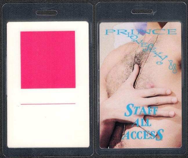 ##MUSICBP0316  - Laminated Prince 1988 LoveSexy Tour Backstage Pass