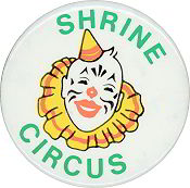 #TY777 - Shrine Circus Pinback