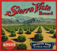 #ZLC175 - Sierra Vista Red Ball Citrus Crate Label