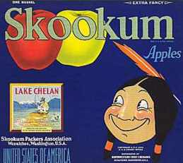 #ZLC009 - Skookum Apple Crate Label