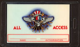 ##MUSICBP0433  - Uncommon Laminated OTTO 1982 Grateful Dead All Access Tour Backstage Pass
