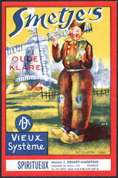 #ZLW171 - Smetje's Dutch Liquor Label - WIndmill