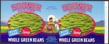 #ZLCA105 - Sooner Select Green Bean Can Label with Covered Wagon