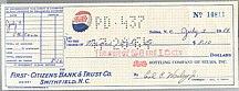 #ZZZ003 - 1960s Pepsi Check
