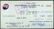 #ZZZ004 - 1960s Pepsi Payroll Check