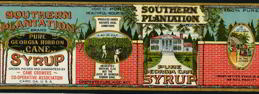 #ZLCA902 - Huge Southern Plantation Syrup Pail Label