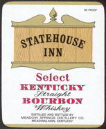 #ZLW082 - Statehouse Inn Kentucky Bourbon Whiskey Label