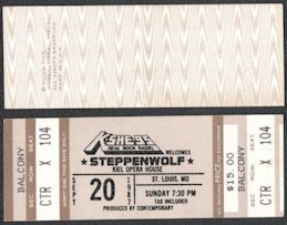 ##MUSICBPT0037 - 1987 Steppenwolf Ticket from the Kiel Opera House Concert in 1987