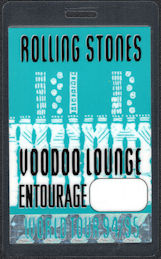 ##MUSICBP0587  - Rolling Stones Local Laminated Perri Backstage Pass from the Voodoo Lounge Tour