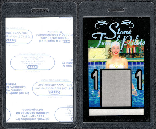 ##MUSICBP0684 - Scarce Stone Temple Pilots OTTO Laminated Backstage Pass from the 1996 Tiny Music Tour
