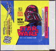 #ZZA081 - 1977 Star Wars Trading Card Wrapper - Blue and Yellow
