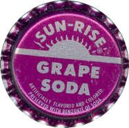 #BC054  - Group of 10 Sun-Rise Grape Soda Caps