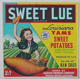 #ZLC028 - Sweet Lue Sweet Potatoes Crate Label