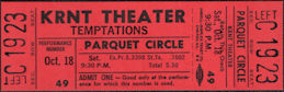 ##MUSICBPT0040  - KRNT Theater Ticket for The Temptations on October 18, 1969