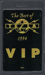 ##MUSICBP0692 - Tesla OTTO Laminated Backstage Pass from the 1996 Best of Tesla Tour
