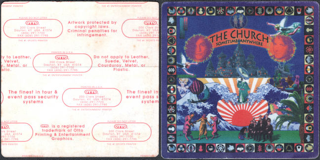 ##MUSICBP0787 - Scarce The Church OTTO cloth Backstage Pass from the 1994 Sometime Anywhere Tour