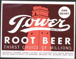 #ZLS101 - Tower Root Beer Soda Bottle Label