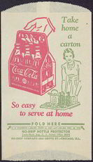 #CC185 - Coca Cola Dry Server with Hand Holding a Coke Carton and Lady with a Tray