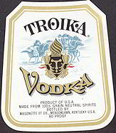 #ZLW102 - Troika Vodka Label
