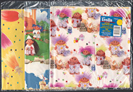 #CH480 - 3 Different Packages of Licensed Troll Wrapping Paper