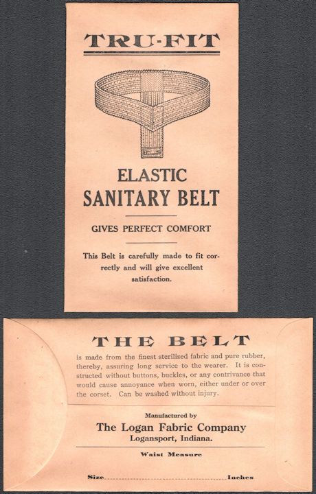 #CS162 - Group of 12 Tru-Fit Elastic Sanitary Belt Envelopes