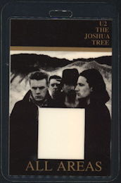 ##MUSICBP0444  - 1987 U2 Laminated Backstage Pass from the Joshua Tree Tour