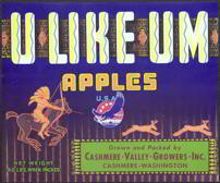 #ZLC208 - U Like Um Apples Crate Label