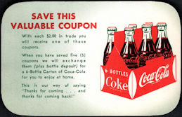 "#CC372 - Group of 4 ""Valuable"" Free Coca Cola Carton Coupons"