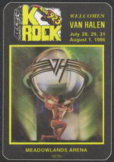 ##MUSICBP0016  - 1986 Van Halen Radio Promo OTTO Backstage Pass - WXRK 923