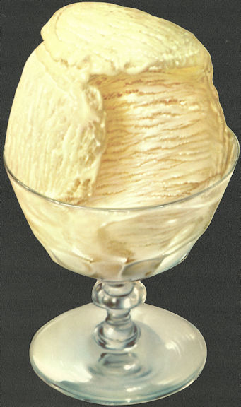 #SIGN226 - Diecut Diner Sign of Vanilla Ice Cream in a Glass Goblet