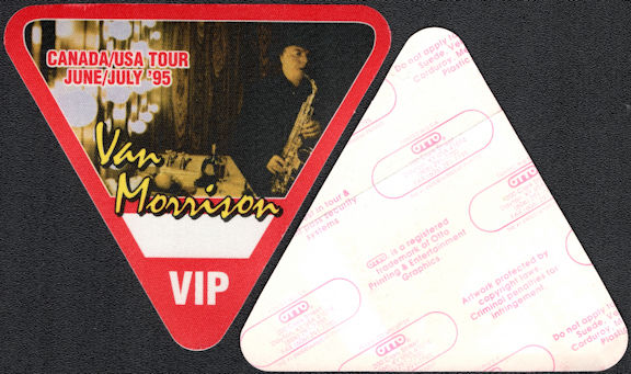 ##MUSICBP0643 - Van Morrison OTTO Cloth Backstage VIP Pass from the 1995 USA/Canada Tour